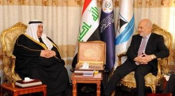 الجعفري يبحث مع أمير عشائر الدليم أبرز مطالب المتظاهرين