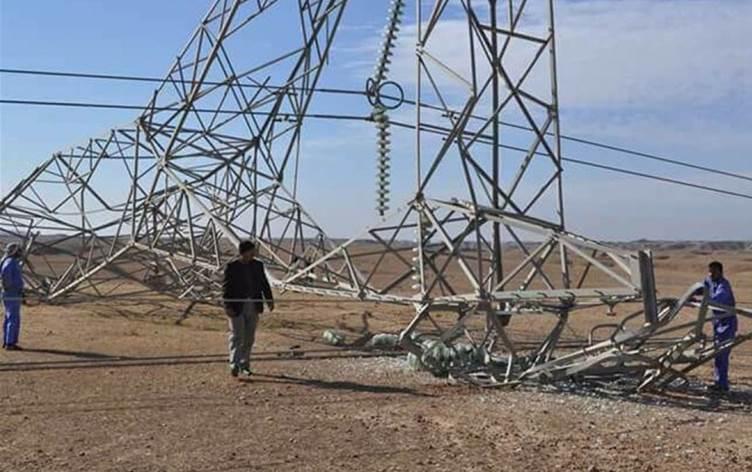 مصدر أمني :حشد بدر من قام بتفجير الأبراج الكهربائية في ديالى