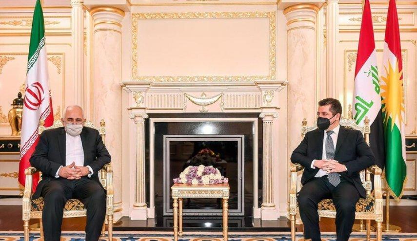 مسرور وظريف يؤكدان على التعاون بين طهران وأربيل