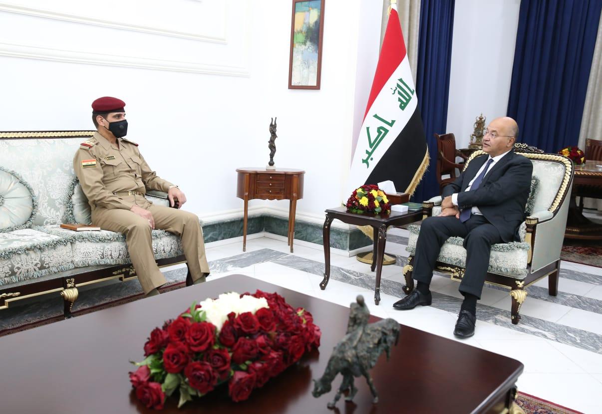صالح يؤكد على فرض القانون وحماية المواطنين من إرهاب الميليشيات الحشدوية