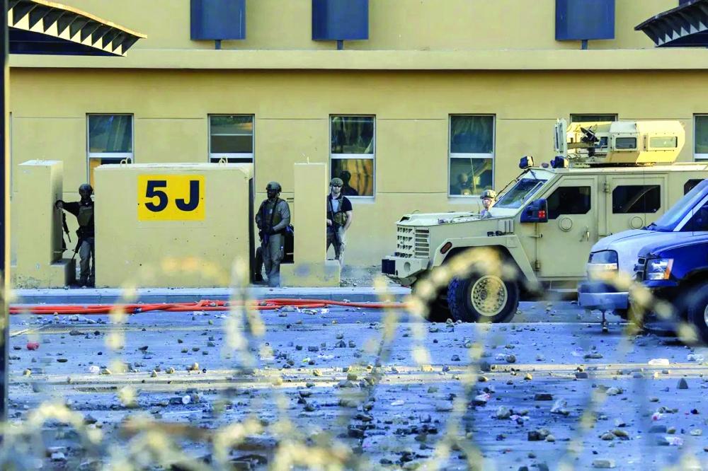 مصادر أمنية:إسقاط طائرة مسيرة حشدوية كانت تحلق فوق مبنى السفارة الأمريكية