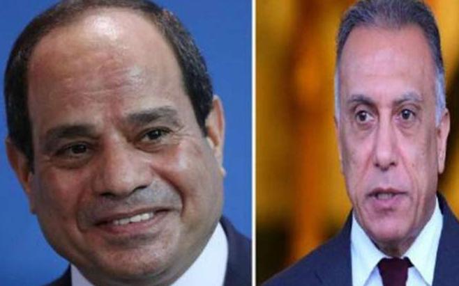 السيسي يؤكد للكاظمي على تعزيز روابط الإخوّة والتنمية المستدامة مع العراق