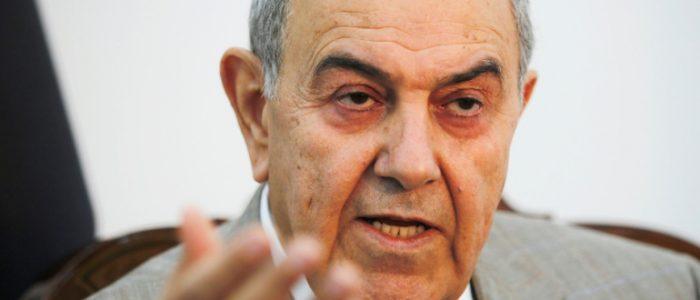علاوي يدعو أمريكا وإيران إلى عدم التدخل في الشأن العراقي والأوضاع غير ملائمة لإجراء الانتخابات