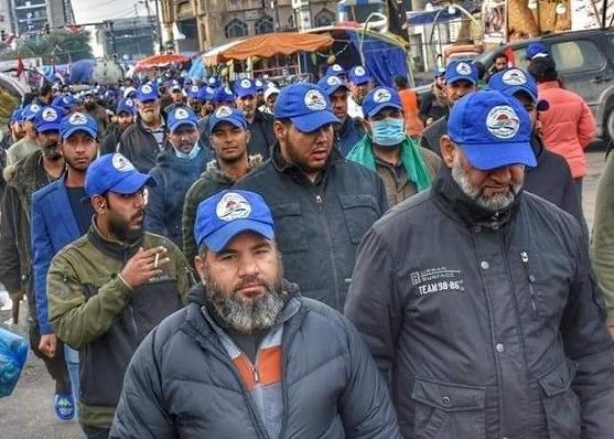اصحاب القبعات الزرق وثوار تشرين تحت سقف واحد!!!
