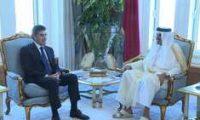 أمير قطر والبارزاني يؤكدان على تعزيز التعاون بين الدوحة وأربيل